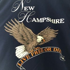Hanes Shirts - Vintage New Hampshire Live Free or Die T-shirt